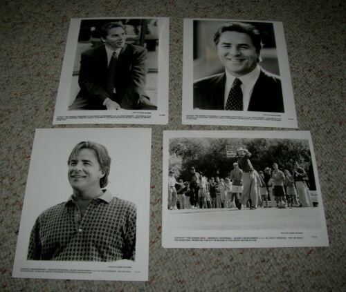 "DON JOHNSON FOUR (4) ORIGINAL B&W 8x10 PRESS PHOTOS ""TIN CUP"" ""GOODBYE LOVER"""