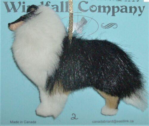 Tri Rough Collie Dog Plush Christmas Ornament # 2 by WC