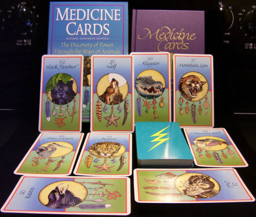 SEALED NEW ~ NATIVE AMERICAN ANIMALS MEDICINE CARDS & HC BOOK ORACLE HEALING
