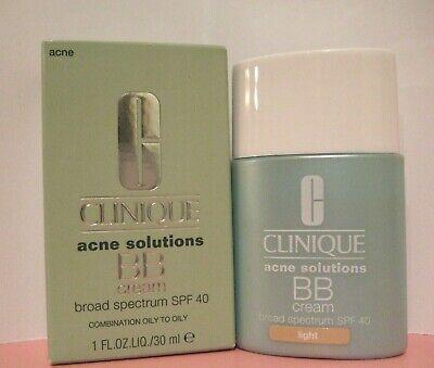 Clinique Acne Solutions BB Cream SPF40 in LIGHT Full Size NIB $39.50 Val