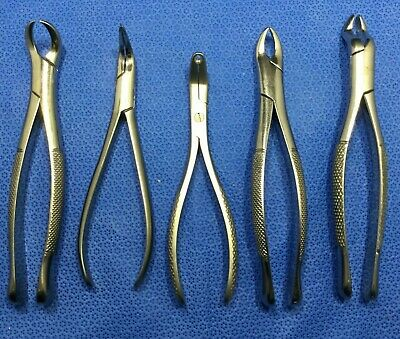 Lot Of 5 Diff Hu-friedy Dental Toolsinstruments - Extracting Forceps Wkp