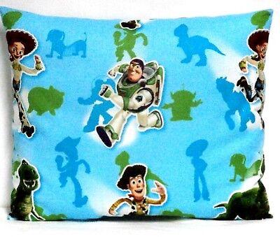 Baby Buzz Lightyear (Buzz Light year Toddler Pillow on Aqua Blue Cotton BL9-9 New Handmade)