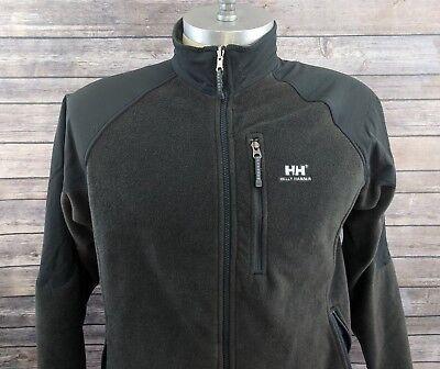 Hh Helly Hansen Mens Fleece Jacket Dark Green Size Large