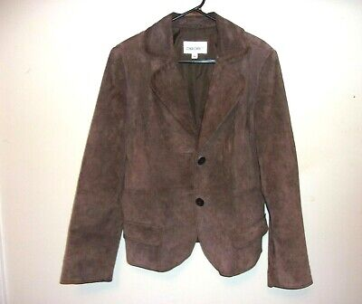 Cherokee Brown Leather Jacket Womens Size L