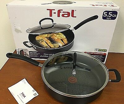 T-FAL 1092330 Dishwasher Safe Jumbo Nonstick Cooker with Lid