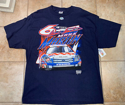 NASCAR Mark Martin #6 AAA Roush Racing M51 T-Shirt Men's Black VTG - SZ XL 6 Aaa Nascar Race