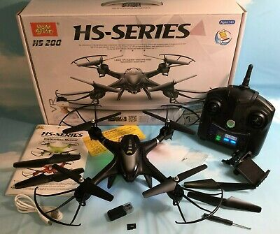 Holy Stone HS200W FPV Quadcopter Drone RTF Altitude Hold Gravity Sensor Black