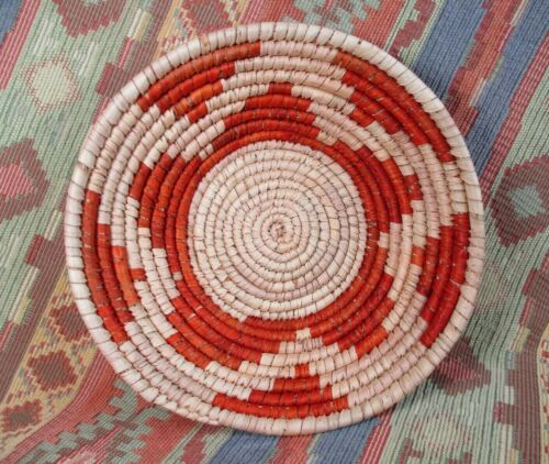 Southwestern Style Basket   Medium Size Star Basket in Rust Color  over 7 inches
