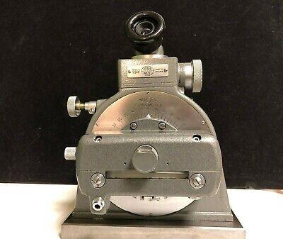 Hilger Watts Tb95-3 Microptic Clinometer Precision Machinist Level In Wood Box