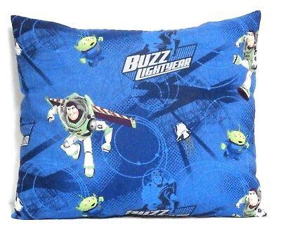Baby Buzz Lightyear (Buzz Light year Toddler Pillow on Blue Cotton BL12-5 New Handmade)