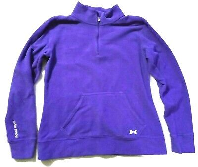 Under Armour Purple Pullover Semi-Fitted Long Sleeve Shirt Womens Small S