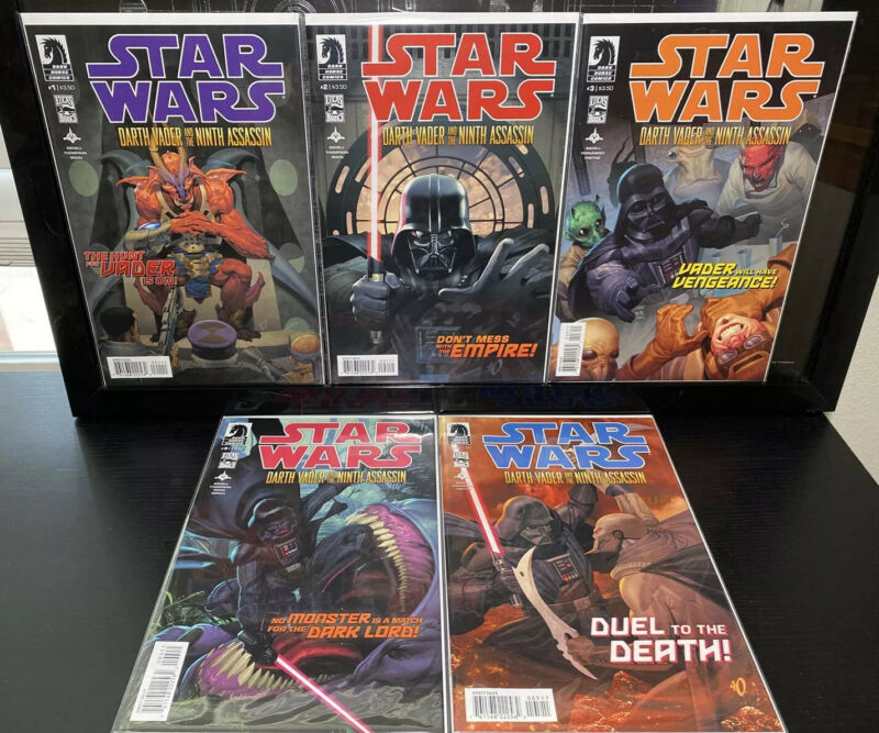 Dark Horse STAR WARS : DARTH VADER & The NINTH ASSASSIN #1 2 3 4 & 5 Full Set NM