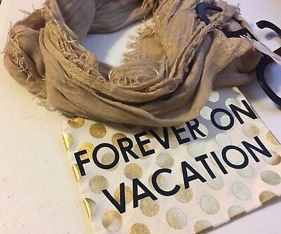 (NWT) Collection XIIX Forever On Vacation Travel Bag & Scarf, Sandstone ONE SIZE