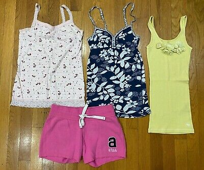 Abercrombie Kids Justice tank tops camis shorts lot Girls Small 8