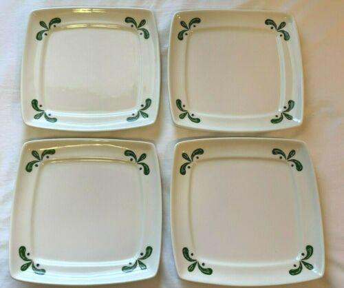 Set of 4 Vintage Olive Garden Buffalo China B-14 Restaurant Ware Square Plates