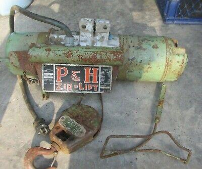 Vintage Harnischfeger Corp P H Zip Lift Type Aai 12 Hp 500lb Runs Nice Lqqk