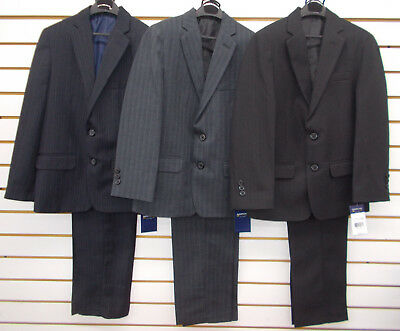 Boys Arrow $85 - $100 2pc Pin Striped Navy, Gray, or Black Suits Size 8 - 20 - Black Boys Suits