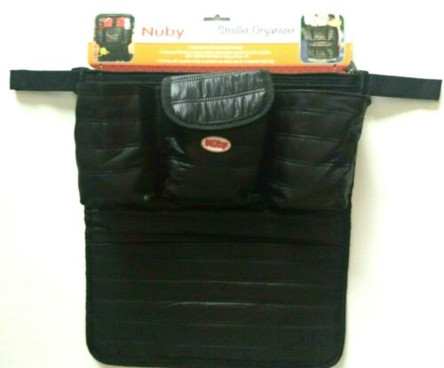 Nuby Universal Stroller Organizer And A Shoulder Strap As A Tote Bag Black NWT