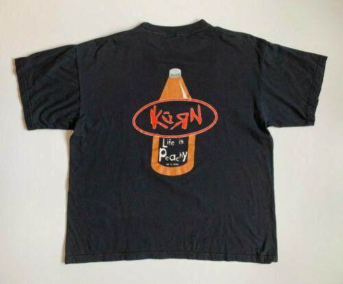 Korn Life is Peachy 40 % Vol 1996 Vintage Mens T-shirt Size XL