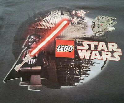 Lego Star Wars T Shirt Youth XL EUC Vader Death Star Millennium Falcon INV359