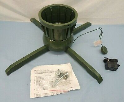 """ROTATING CHRISTMAS TREE STAND ELECTRIC 6"""" HOLE FOR UP TO 5"""" DIAMETER TREE"""