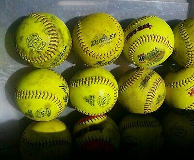 12 Optic Green Softballs ASA