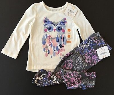 Gymboree Floral Owl Tee & Floral Pants Outfit NWT 18 24 2T