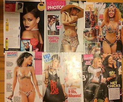 Rihanna, Lot of SIX Full Page Clippings