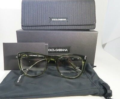 Dolce & Gabbana DG 3248 2926 Striped Green New Authentic Eyeglasses 52mm w/Box