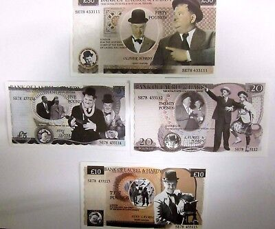 Laurel and Hardy Novelty Notes
