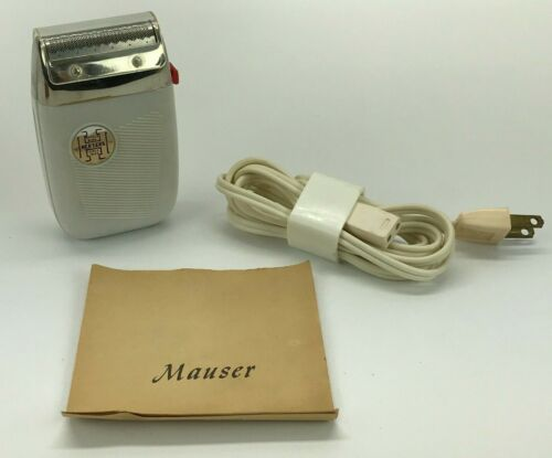 Vintage Mauser Herters Electric Shaver With Manual - Tested & Working