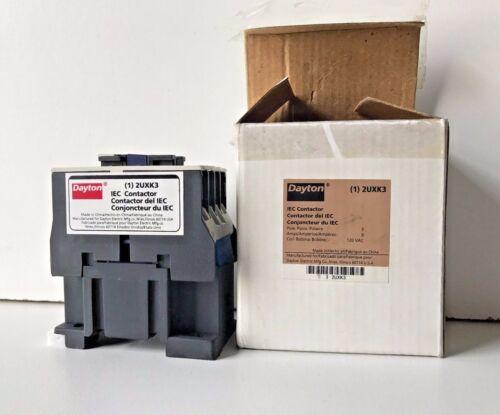 NEW DAYTON 2UXK3 IEC CONTACTOR 120 VAC