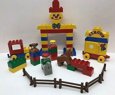 1991 LEGO DUPLO 2386 Circus Horse, Clown, Fence, PlaySet -Not Complete