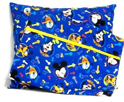 Mickey Mouse Toddler Pillow and Pillowcase on Blue Cotton #2