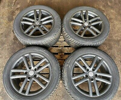 "GENUINE VW VOLKSWAGEN TOUAREG 19"" 5 TWIN SPOKE ALLOY WHEELS 7L6601025S"