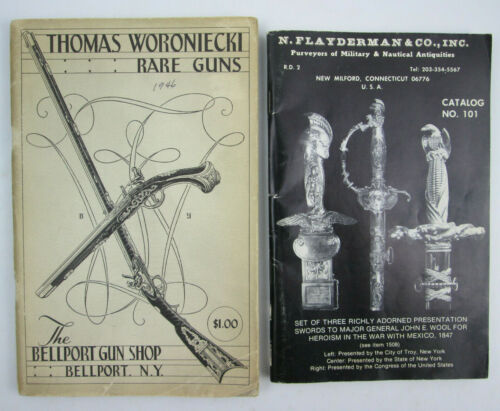 2 Vintage Guns Military Store Catalogs Thomas Woroniecki 1946 & Flayderman 1976