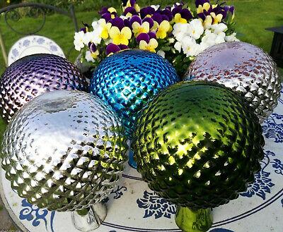 Neu Viele Farben Kugel Rosenkugel Glas Antikfinish Noppe Gartenkugel Garten Deko