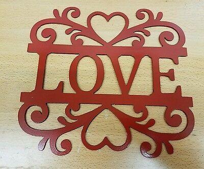 Love Heart scroll sign metal wall art plasma cut decor gift idea - Valentine Decorations Ideas