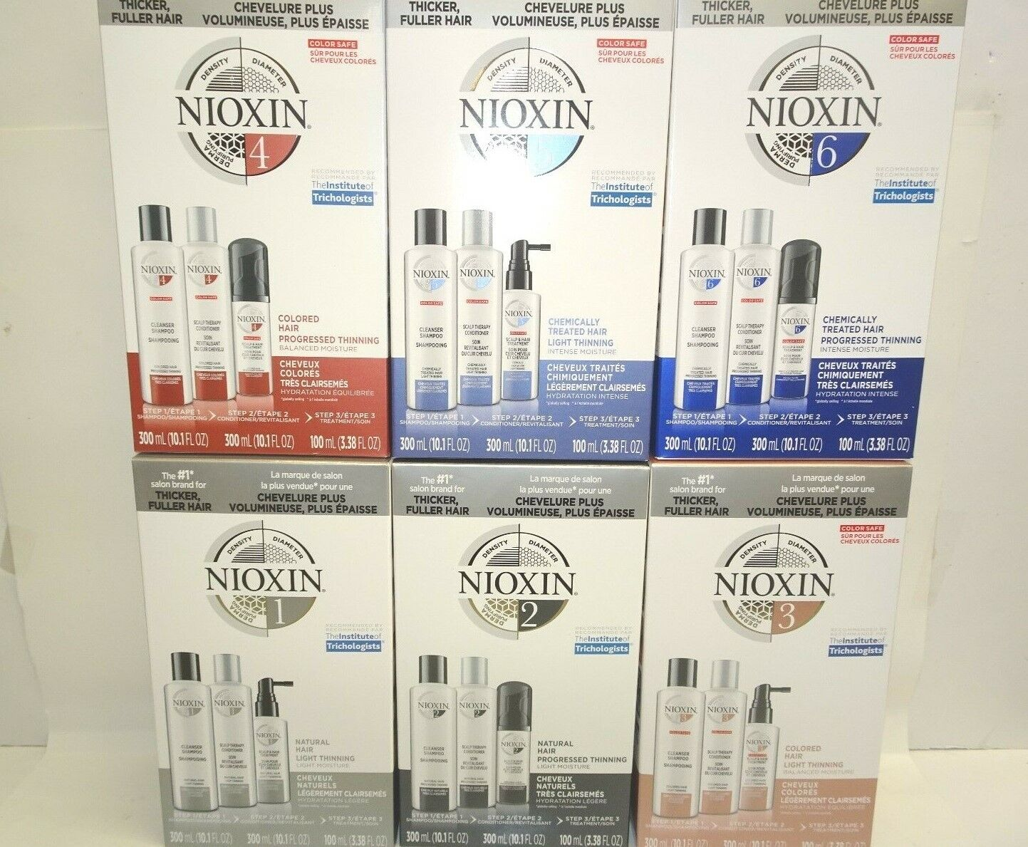 NIOXIN HAIR SYSTEM KIT BRAND NEW 2018 PRODUCT BIGGER SIZES -