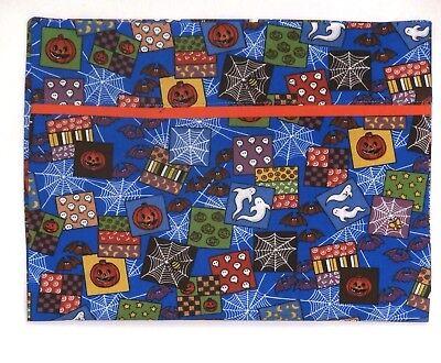 Babies On Halloween (Halloween Toddler Pillowcase on Pumpkins&Ghost Blue Cotton HA28-5 New)