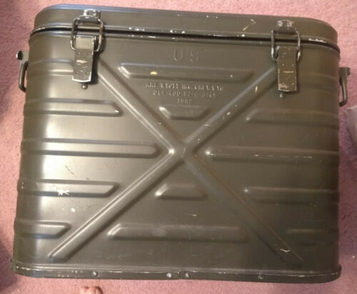 Military AMF Wyott Metal Insulated Cooler Ice Chest
