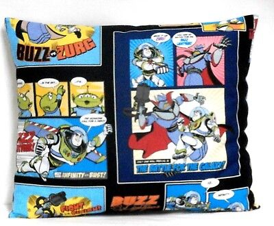 Baby Buzz Lightyear (Buzz Light year Toddler Pillow on multi-color Cotton BL2-10 New Handmade)