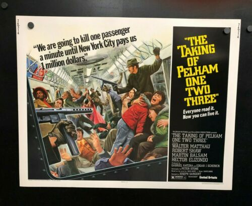 original 1974 The Taking of Pelham One Two Three Movie Poster 22 x 28  Beautiful