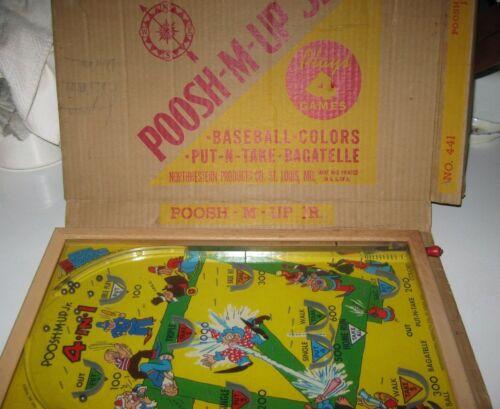 Vintage Poosh-M-Up Jr Pin Ball Game, 1940s