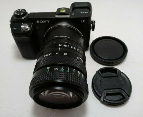 Sony E-mount adapted TAMRON 28-70 mm F/3.5-4.5 Adaptall Tele-MACRO ZOOM Lens