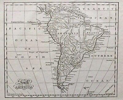 1802 Antique Map; South America - George Kearsley