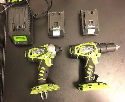 Greenworks 24V Lithium Compact Drill Driver and Impact Driver Combo Kit SAVE! (Greenworks 24v Drill Driver And Impact Driver Combo)