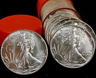 1987 Silver American Eagle BU 1 oz Coin US $1 Dollar Brilliant Uncirculated Mint (Silver Eagle Dollar)