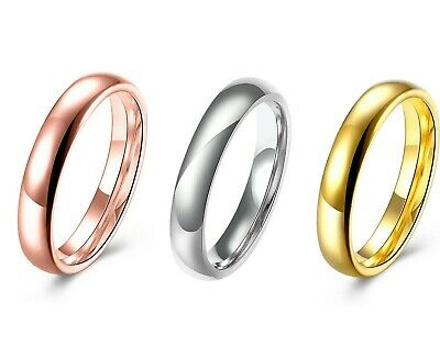STAINLESS STEEL 3mm Comfort Fit Unisex Wedding Band Ring LIFETIME GUARANTEE 3mm Comfort Fit Band
