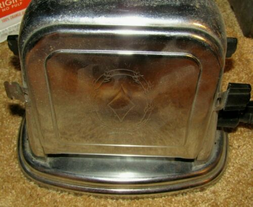 "ANTIQUE BERSTED #71 ART DECO DOUBLE SIDED METAL ELECTRIC TOASTER ""WORKS"""